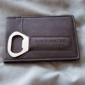 ☆ NWT Bottle Opener Wallet